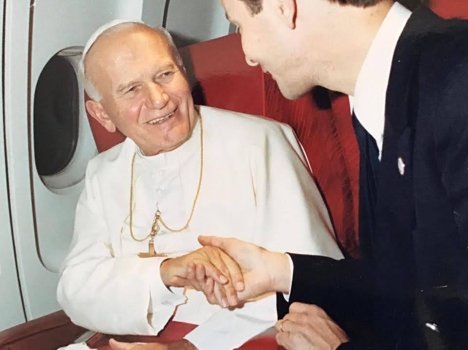 J'ai effectué plusieurs vols avec le très Saint Père Jean-Paul II